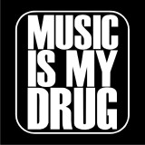 Pánské Triko Music is my drug